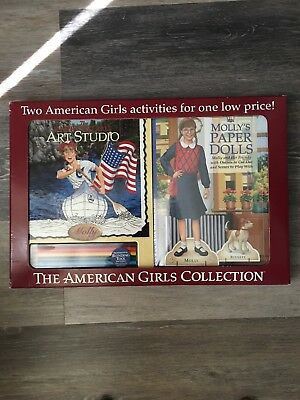The American Girls Collection Art Studio & Molly's Paper Dolls Activity Books