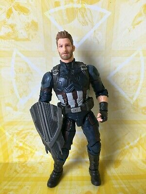 Marvel Legends Hasbro Infinity Thanos BAF Complete Captain America Figure (D)