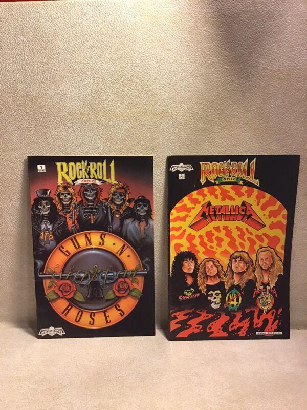 ROCK N ROLL COMICS Vol. #1-4. REVOLUTIONARY COMICS, 1989!