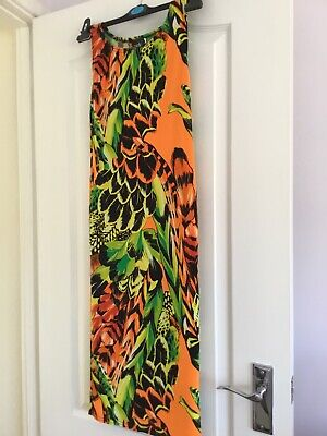 John Zack Dress 10 Stunning Orange Multi Colour
