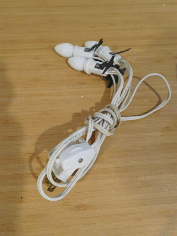 Dept 56 - 3 Bulb Light Socket Cord w/ Switch