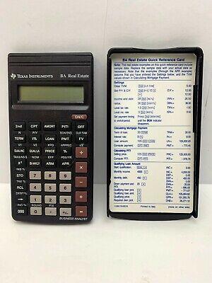 Texas Instruments Ba Real Estate Scientific Calculator Free Shipping
