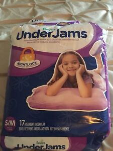 Pampers under jams for girls