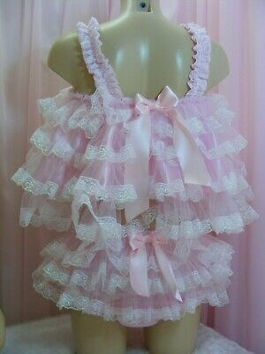 ADULT baby sissy satin babydoll negligee nightie dress camisole lingerie cosplay](Adult Baby Lingerie)