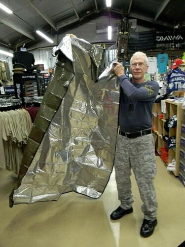 US Military OD Green Aluminum Casualty BLANKET, Thermal Emergency (NEW)