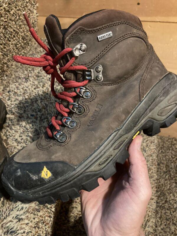 Vasque Women's Bitterroot 7167 Brown Leather Gore-Tex Hiking Vibram Boots 7 37.5