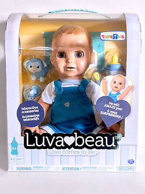 Luvabeau Baby Doll Blonde Hair Luvabella Boy Doll Interactive Responsive New