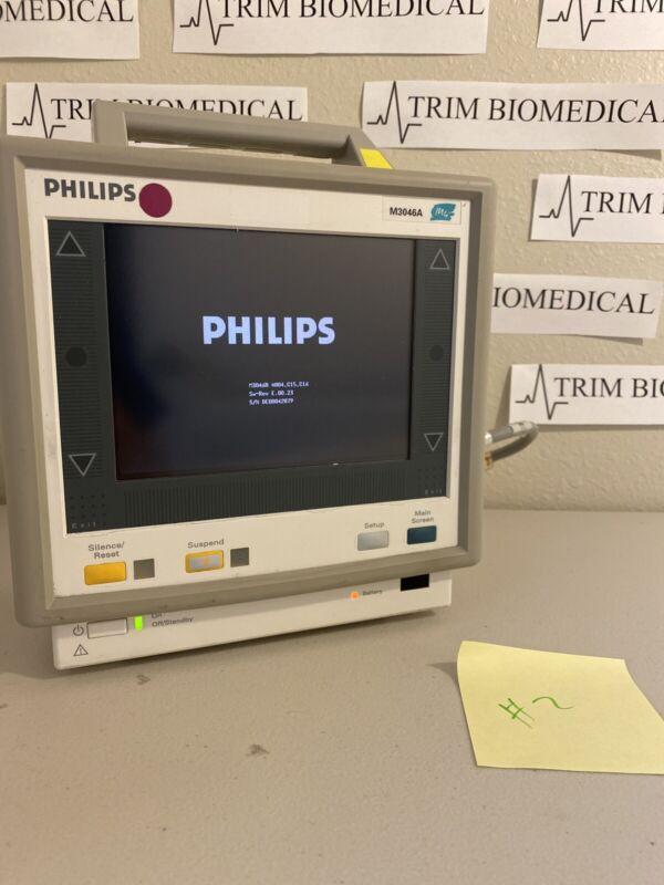 PHILIPS M3046A M4 COLOR MULTI-PARAMETER PATIENT MONITOR