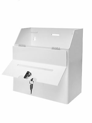 Ballot Lead Generation Locking Suggestion Box Clear Wall Mount Counter Top