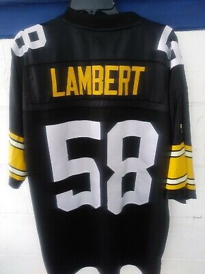 VINTAGE THROWBACKS REEBOK GRIDIRON CLASSIC JERSEY JACK LAMBERT #58 PIT-STEELERS for sale  Shipping to Canada