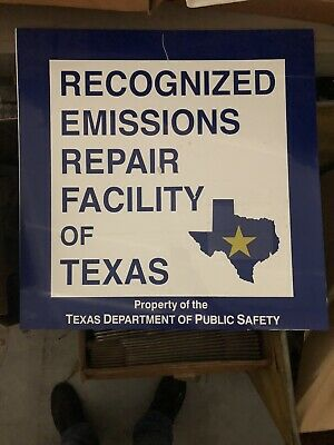 Vintage Texas State Inspection Sign Automotive Metal