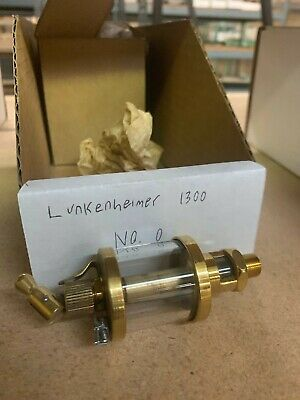 Vintage Lunkenheimer No 0 Fig.1300 Sentinel Brass Glass Oiler Hit Miss Engine