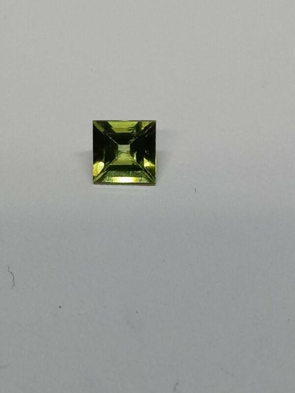 0.59ct Natural Square Cut Peridot 5x5mm #mc27