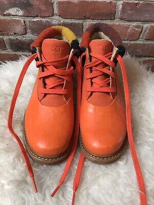 CAT Caterpillar Leather Fleece Boots Walking Machines Size 8 W Cat Walking Boots