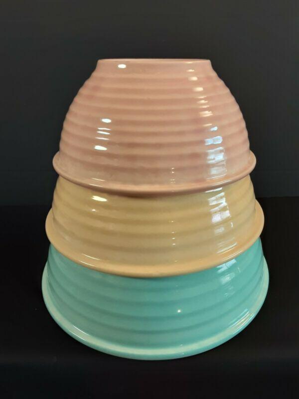 Rare Bauer USA Pottery Ring Ware Mixing Bowl Set