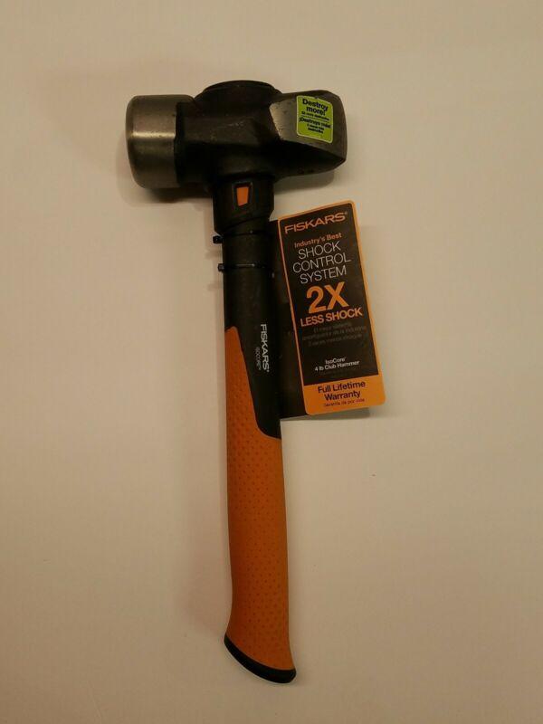 Fiskars IsoCore 4 lb Club Blacksmith Straight Pein Peen Forging Hammer