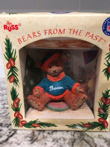 Russ NFL Miami Dolphins Bears From the Past Christmas Ornament