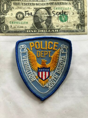Vermillion South Dakota Police Patch un-sewn in great shape