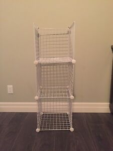 Wire cube shelves