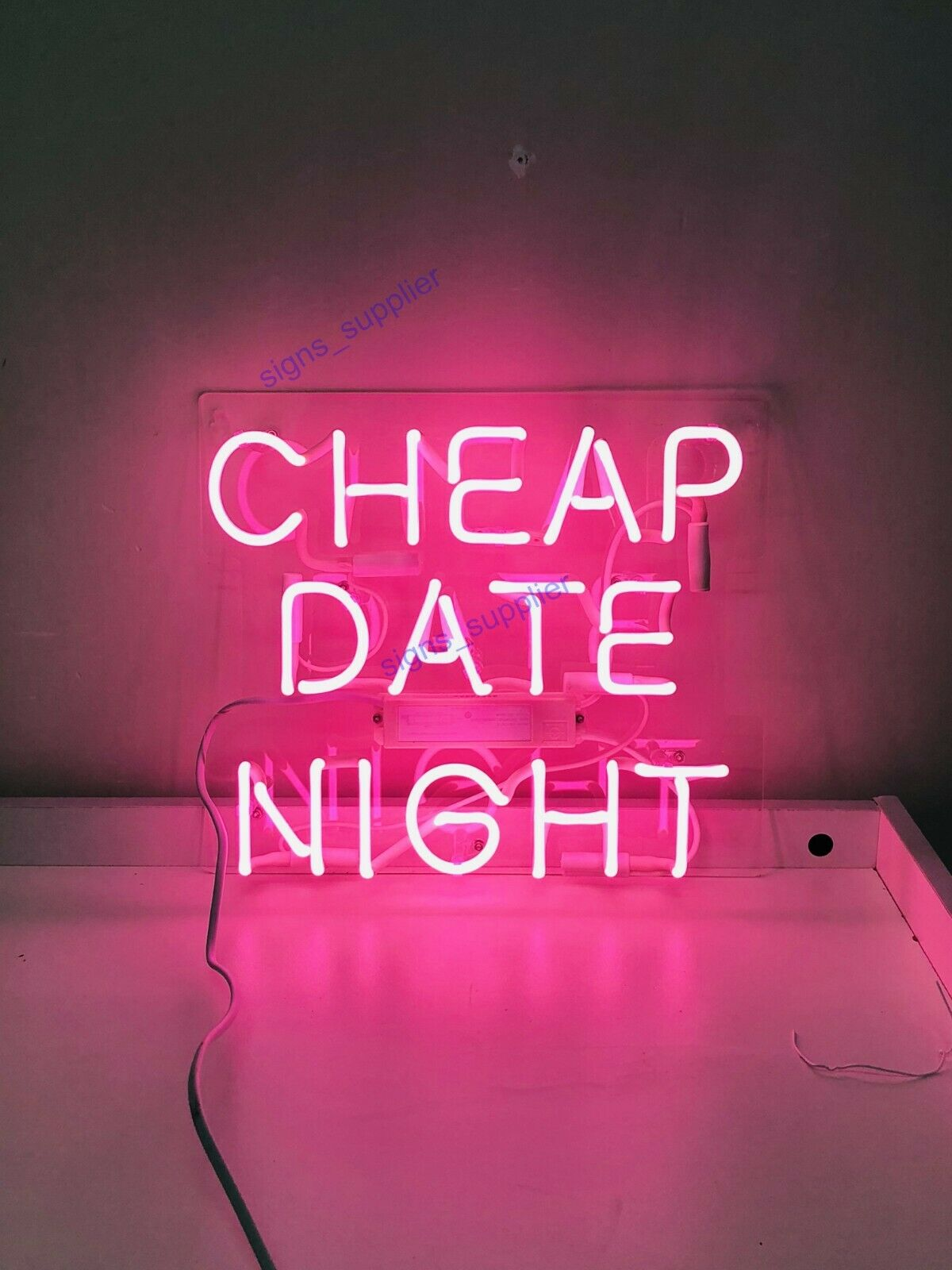 "New Cheap Date Night Neon Light Sign 14"" Lamp Beer Pub Acryl"