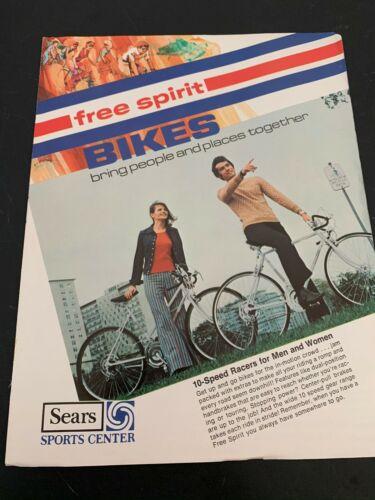 Vtg Sears Free Spirit Bikes Bicycles Sales Brochure Ad Advertisements