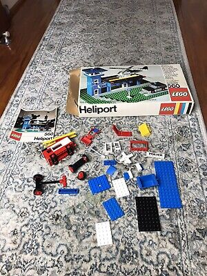 Vintage LEGO 560 Police Not Complete Miscellaneous LEGO Pieces Box Manual 1970s