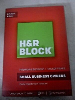 H R Block Premium   Business Tax  2017 Small Business Owners Free Ship