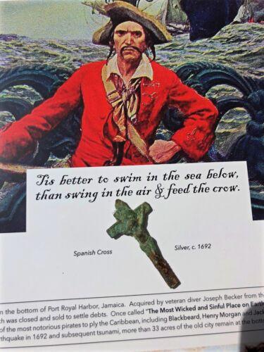 PIRATE TREASURE * Authentic PORT ROYAL Spanish Crucifix ARTIFACT c.1692 * COA