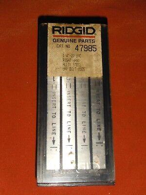Genuine Ridgid 14 20 Unc Rh Universal Steel Bolt Dies 47985 Sealed