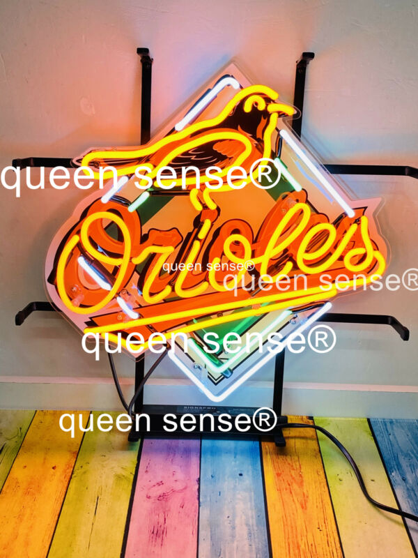 "Baltimore Orioles Neon Sign 20""x20"" with HD Vivid Printing Technology"