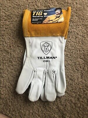 Tillman 1328 Top Grain Goatskin Tig Welding Gloves 4 Cuff Large