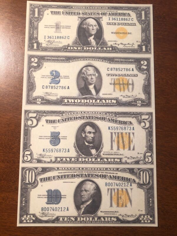 Copy 1934 Africa $1 $2 $5 $10 Uncut Reproduction Currency Money Sheet