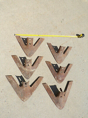 Lot Of 6 Cultivator Sweeps Iron Steel Farm Machinery Tiller Plow Parts Rat Rod