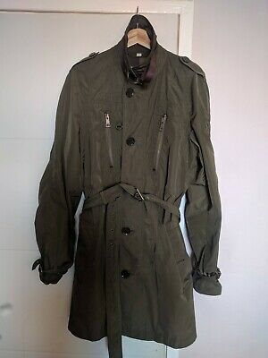 Mens Burberry jacket / trench coat size L Olive green Excellent condition
