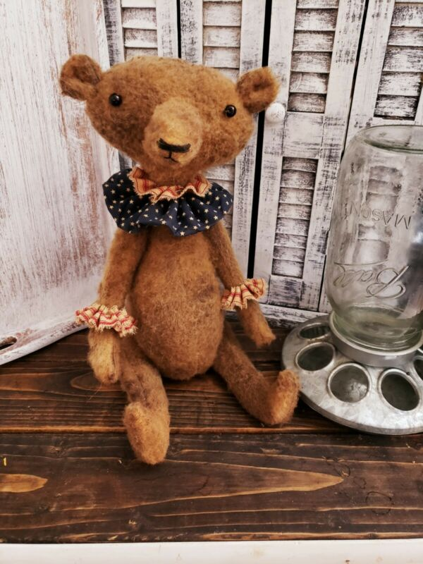 Handmade Primitive Americana Bear Andrew