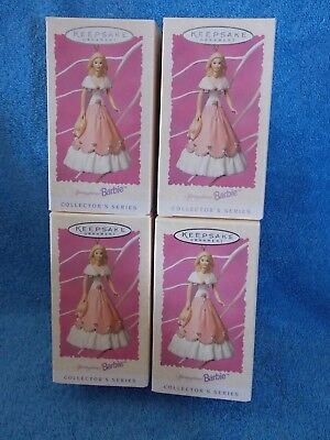Lot Of 4 New 1997 Springtime  Barbie Doll Ornaments