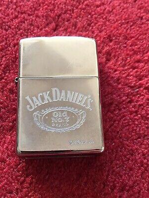 ZIPPO Genuine JACK DANIELS  Old No. 7 Polished Chrome Petrol Lighter - VGC