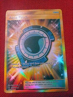 - Pokemon Card: AQUA PATCH 161/145 Guardians Rising Holo Full Art Secret Rare NM