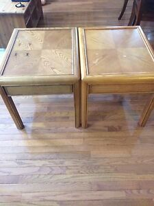 Matching oak tables