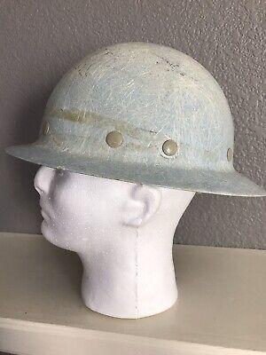 Vintage Superglas Fibremetal Hard Hat Helmet Fiberglass Sky Blue