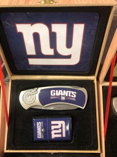new york giants logo knife and lighter set NFL FOOTBALL TEAM