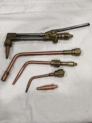 Victor Cutting Welding Torch Set Ca2460 8 Mfa Hadle Tips 1-w 5-w 2-1-101