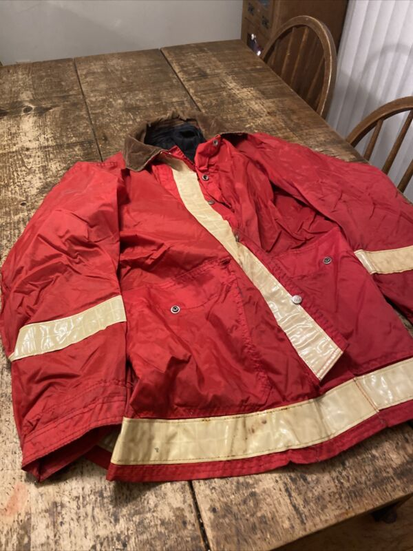 Globe - Firefighter Police - Red Jacket Full Zip Reflective Size L