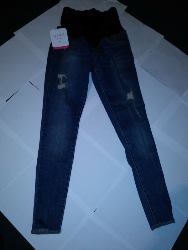 Isabel Maternity Crossover Panel Skinny Jeans, Medium Wash, 0/25