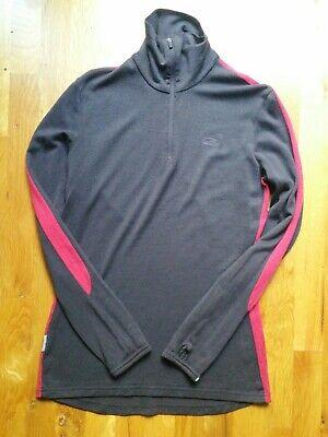 Icebreaker Bodyfit 260 Womens sz Large 1/2 Zip Pullover Merino Wool Base Layer