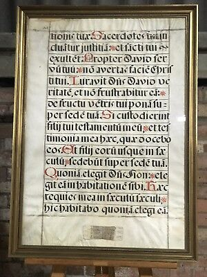 Antique 18th Framed Latin Inscription Referring To The Welsh Priest David Lloyd
