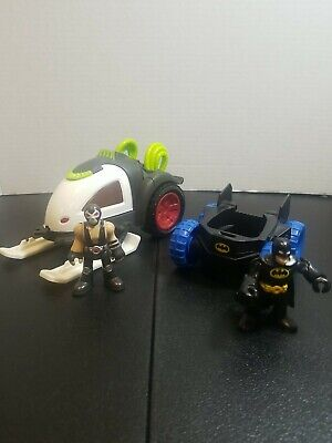 Imaginext Dc Super Friends Bane Battle Sled and Batman Car Both with Figures
