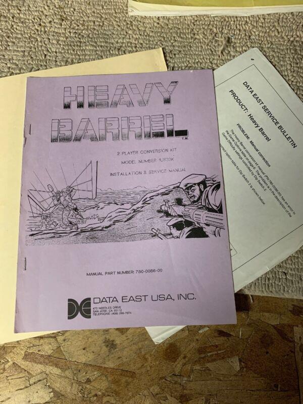 original Heavy Barrel Kit Data East Arcade Game manual