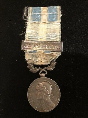 France Third Republic Silver Colonial Medal Ex Rare