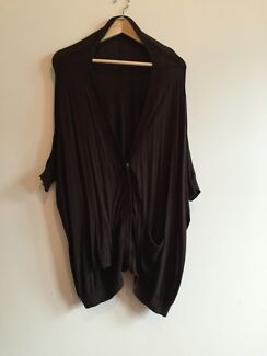 short sleeve cardigan charcoal colour size small Erskineville Inner Sydney Preview